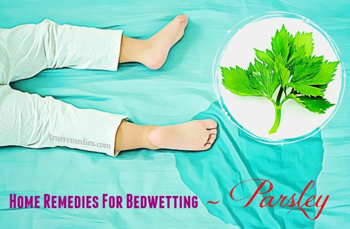 home remedies for bedwetting in children - parsley