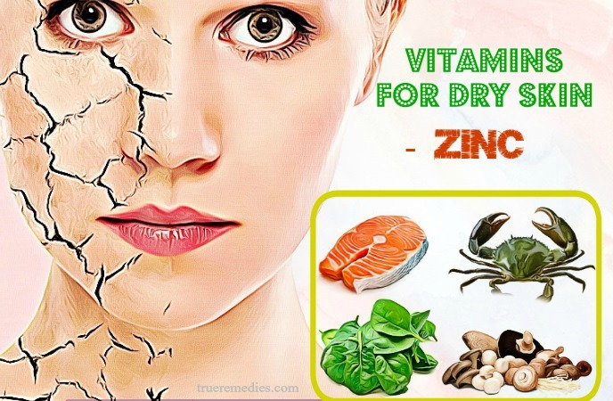 vitamins for dry skin - zinc