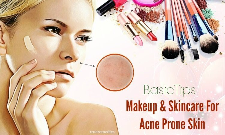 makeup and skincare acne prone skin