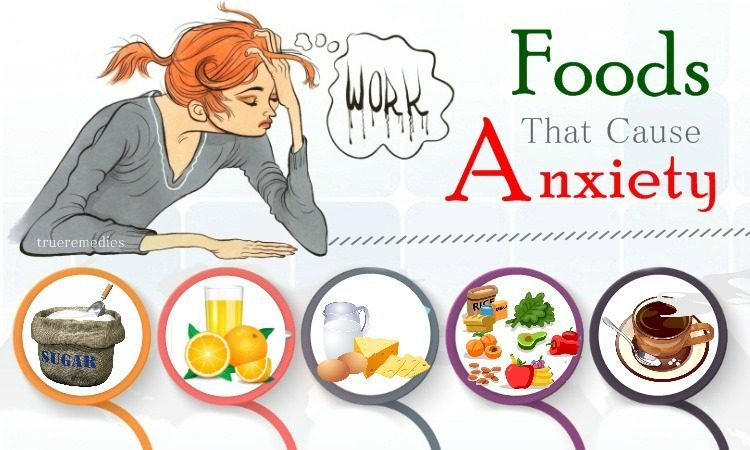 foods that cause anxiety and depression
