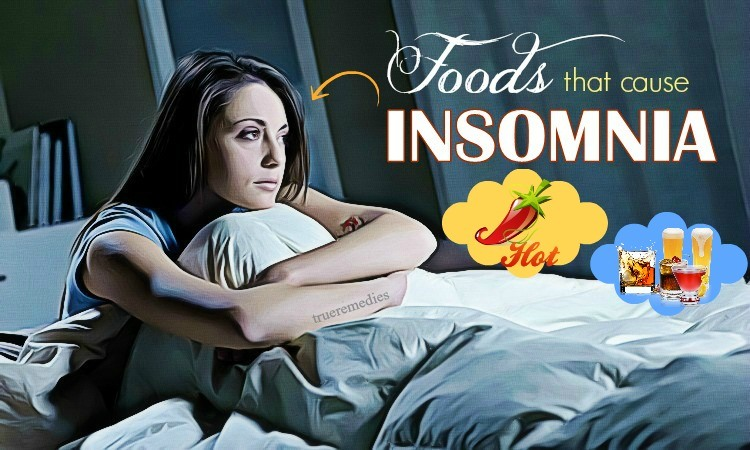 common foods that cause insomnia