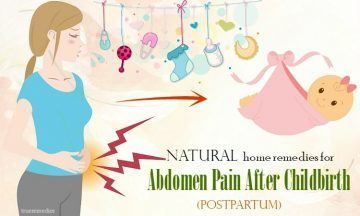natural home remedies for abdomen pain after childbirth
