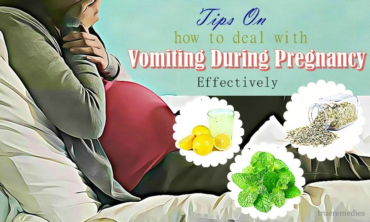 tips on how to deal with vomiting during pregnancy