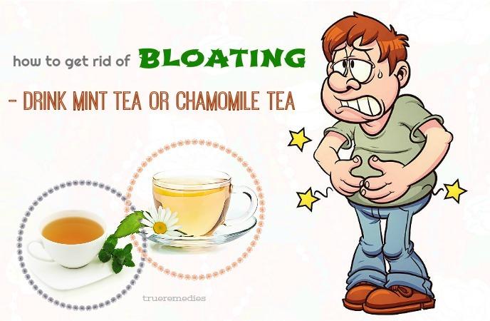 drink mint tea or chamomile tea