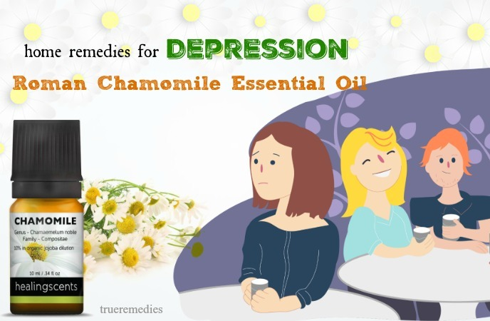 home remedies for depression - roman chamomile essential oil