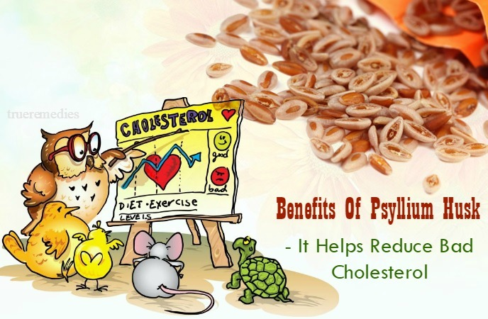 health benefits of psyllium husk - it helps reduce bad cholesterol