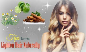 how to lighten hair naturally at home