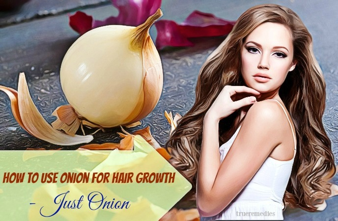 how to use onion for hair growth - just onion
