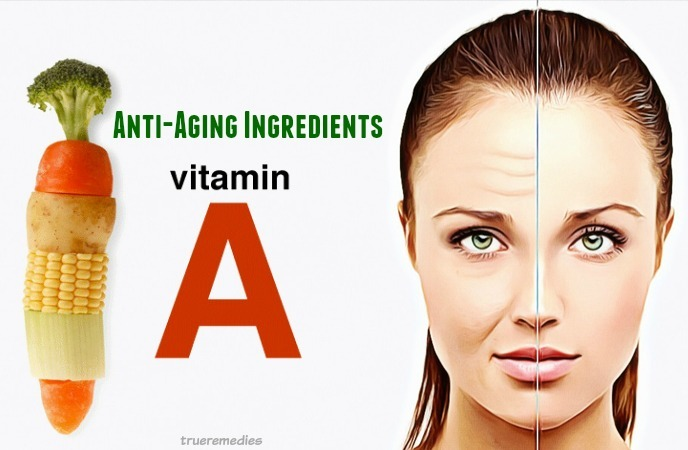 natural anti-aging ingredients - vitamin a
