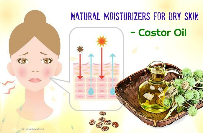 natural moisturizers for dry skin on face - castor oil