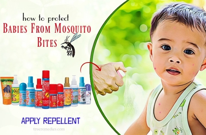 how to protect babies from mosquito bites - apply repellent