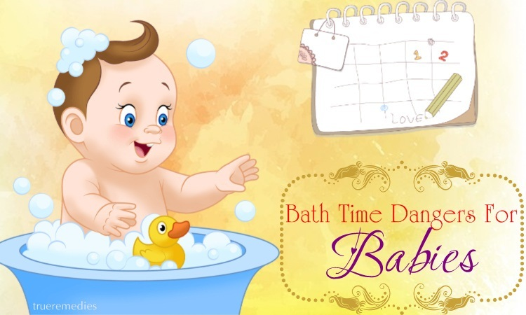 bath time dangers for babies under four years old
