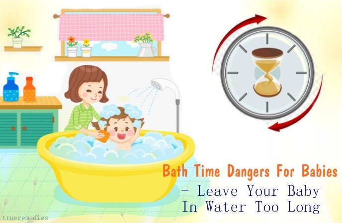 bath time dangers for babies - leave your baby in water too long