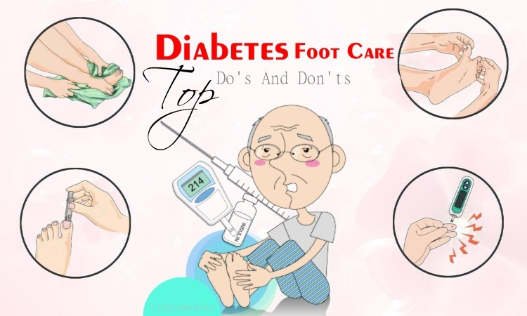 do's and don'ts for diabetes foot care