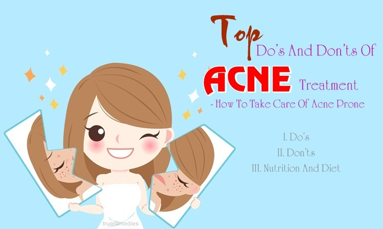 do's and don'ts of acne treatment