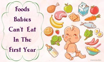 unsafe foods babies can't eat in the first year