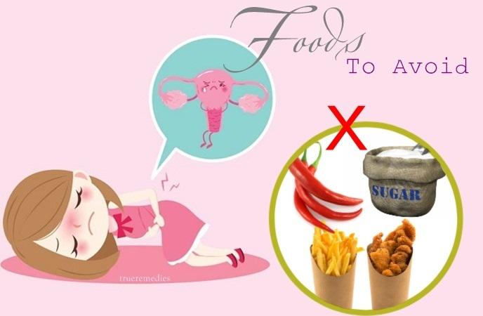 menstrual period diet - foods to avoid