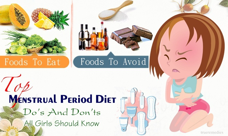 menstrual period diet do's and don't