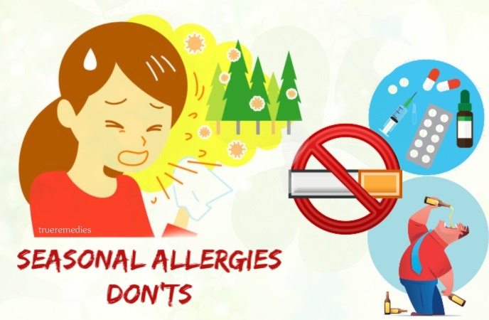 seasonal allergies do's and don'ts - the don'ts