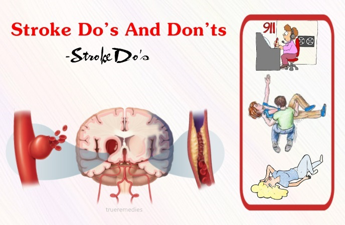 stroke do's and don'ts - stroke do's