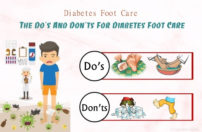 diabetes foot care - the do's and don'ts for diabetes foot care