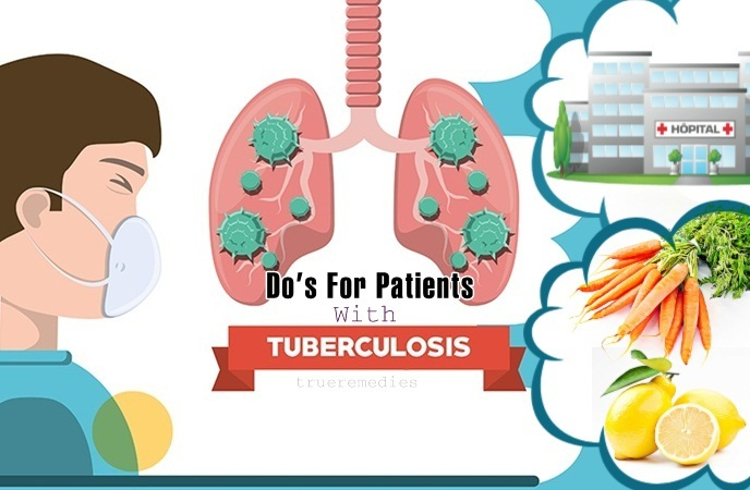 tuberculosis do's and don'ts - do's for patients with tuberculosis