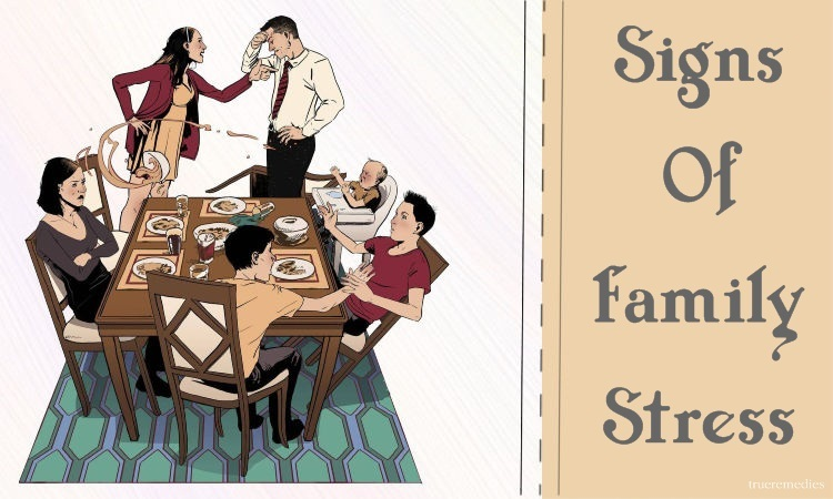 warning signs of family stress