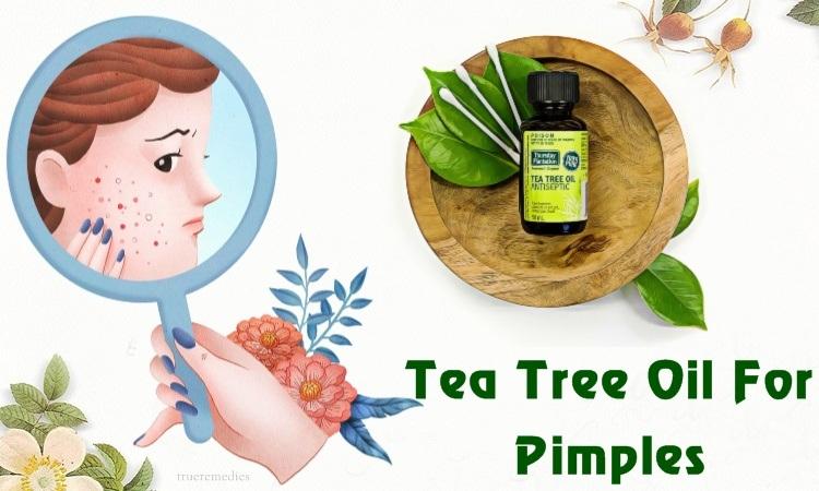 tea tree oil for pimples on scalp