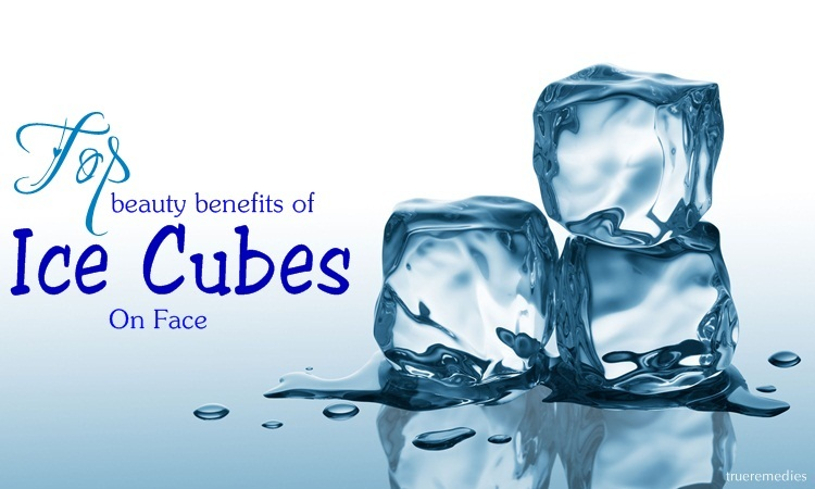 beauty benefits of ice cubes